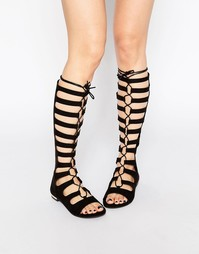 Высокие сандалии-гладиаторы Truffle Collection - Black mf