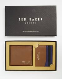 Подарочный набор с кожаным бумажником и визитницей Ted Baker Bigcol