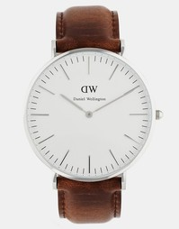 Часы с кожаным ремешком Daniel Wellington Bristol - Коричневый