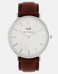 Часы с кожаным ремешком Daniel Wellington St Andrews - Коричневый