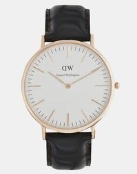 Часы цвета розового золота Daniel Wellington York - Коричневый