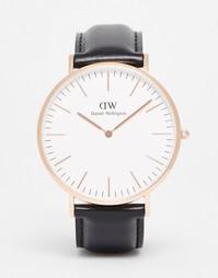 Золотистые часы Daniel Wellington Sheffield - Черный