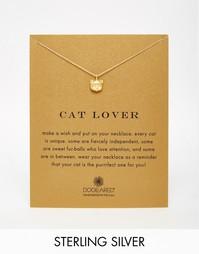 Позолоченное ожерелье Dogeared Cat Lover - Золотой