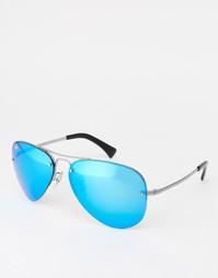 Солнцезащитные очки-авиаторы со светоотражающим покрытием Ray-Ban