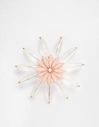 Брошь с цветком ASOS - Розовый