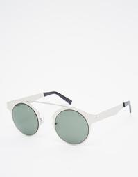 Серебристые круглые солнцезащитные очки Spitfire Intergalactic