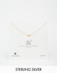 Позолоченное ожерелье с подвеской Dogeared Three Little Words Stardust