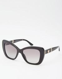 Солнцезащитные очки кошачий глаз Versace - Черный