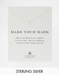 Серебряное ожерелье с английской булавкой Dogeared Make Your Mark