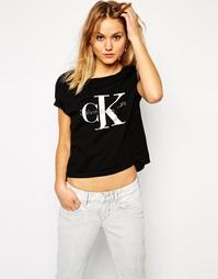 Укороченная футболка Calvin Klein Jeans - Черный