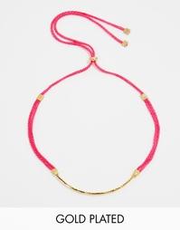 Ожерелье-чокер из шнурка Ottoman Hands - Hot pink