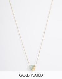 Ожерелье с полудрагоценным флюоритом Ottoman Hands - Золотой