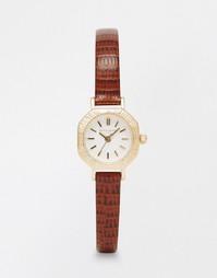 Часы в винтажном стиле с коричневым ремешком Olivia Burton