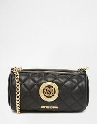 Стеганая сумка на плечо Love Moschino - 000 черный