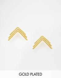 Серьги-гвоздики The 2Bandits Triple Arrow - Золотой