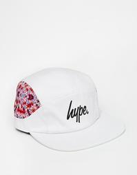 7-панельная кепка с цветочным принтом Hype - Белый