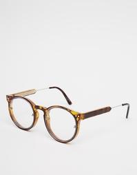 Круглые очки в черепаховой оправе Spitfire Post Punk - Черепаховый