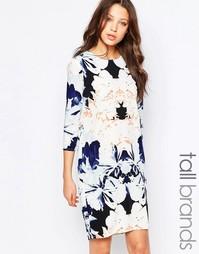 Цельнокройное оversize-платье с цветочным принтом Y.A.S Tall - Мульти