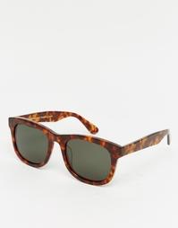 Солнцезащитные очки в черепаховой квадратной оправе Han Kjobenhavn Wol