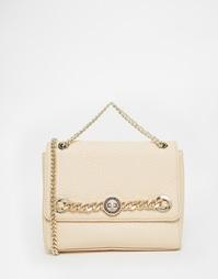 Розовая сумка через плечо с цепочкой Versace Jeans - Розовый