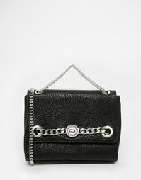 Черная сумка через плечо с цепочкой Versace Jeans - Черный
