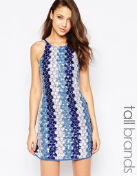 Голубое платье, расшитое пайетками True Decadence Tall - Синий