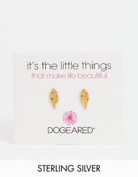 Позолоченные серьги-гвоздики Dogeared - Золотой