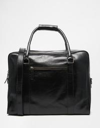 Черная кожаная сумка Royal RepubliQ Duke - Черный