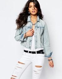 Укороченная джинсовая куртка с необработанным краем Blank NYC - Синий