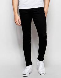 Черные супероблегающие джинсы с заниженным шаговым швом Dr Denim Leroy