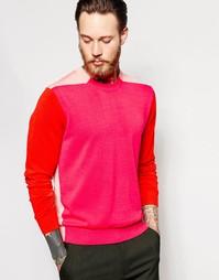 Джемпер с контрастной отделкой PS Paul Smith - Розовый