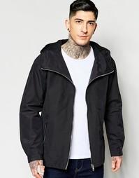 Черная куртка с капюшоном Minimum - 988 чернильно-черный