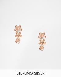 Серьги с позолотой из розового золота Pieces & Julie Sandlau Jow