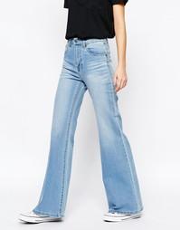 Расклешенные джинсы с завышенной талией Dr Denim Saige - Синий