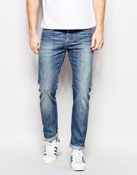 Суженные книзу джинсы слим Edwin Jeans ED-80 - Выбеленный