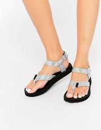 Переливающиеся сандалии с перемычкой между пальцами Teva Original