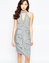 Платье-халтер с вырезом капелькой и сборками Virgo's Lounge Neva