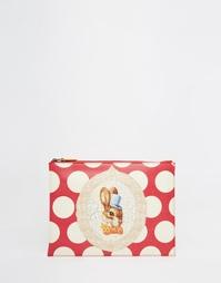 Красный клатч с кроликом Vivienne Westwood - Красный