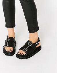 Черные сандалии с пряжками UNIF Bab - Черный
