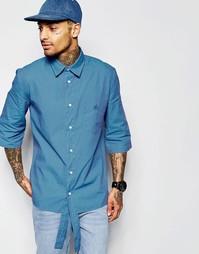 Рубашка с короткими контрастными рукавами и удлиненной планкой на пуго Vivienne Westwood Anglomania