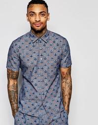 Рубашка с короткими рукавами и сплошным принтом Vivienne Westwood Angl