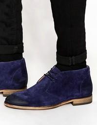 Замшевые ботинки чукка Selected Homme Bolton - Синий