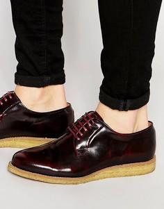 Туфли-дерби с крепированной подошвой Walk London Darcy - Красный