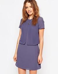 Фиолетовое платье два-в-одном Maison Scotch - Фиолетовый