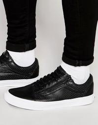 Черные кроссовки на молнии Vans Old Skool V18GDJ6 - Черный