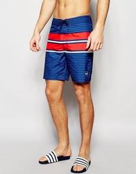 Пляжные шорты в полоску Hollister - Темно-синий