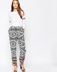 Шелковые брюки Ganni Newport - Мульти