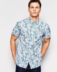 Рубашка с короткими рукавами и принтом Afends - Синий