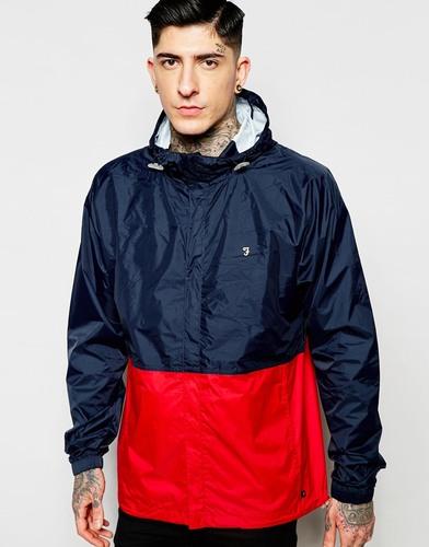 Компактная куртка колор блок Farah - Темно-синий