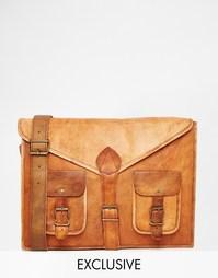 Кожаная сумка через плечо Reclaimed Vintage - Рыжий